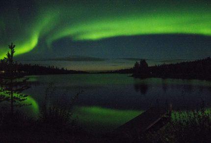 Het noorderlicht zien in Finland