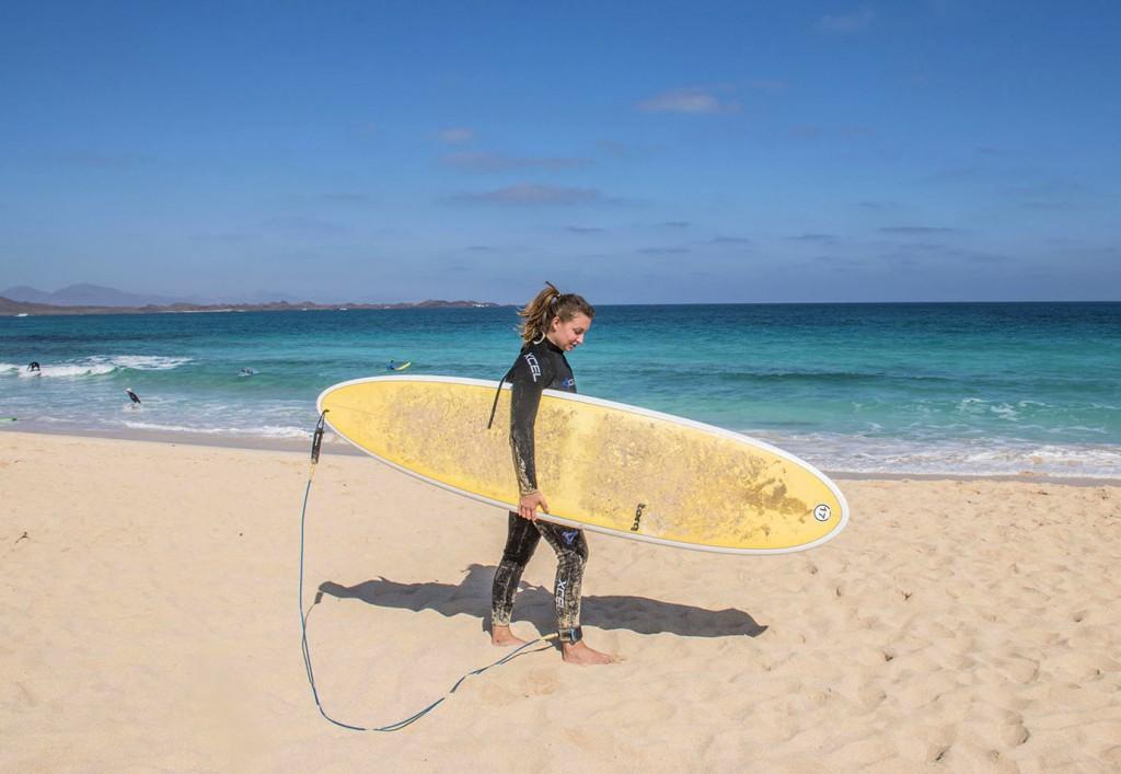 Fuertevenura-surfen